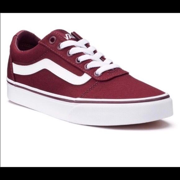 751964cadb2a Vans Burgundy Low Skate Shoes